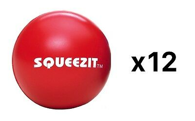 Doc Squeezit Hand Strength Therapy Squeeze Grip Ball-Sports Medicine (12-Pack)