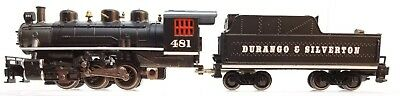 N Bachmann 0-6-0 Durango & Silverton Loco (loose linkage right side) (Tested)