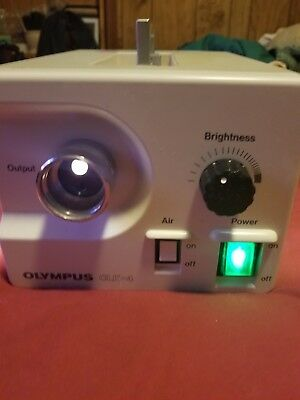 Olympus CLK-4 150W Halogen Light Source w/ Fiberoptic Cable.  NICE