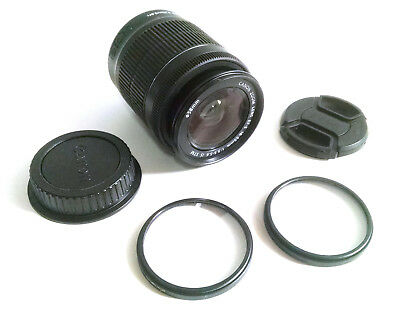 Canon Zoom Lens EF-S 18-55mm 1:3.5-5.6 IS w/2x filters & caps