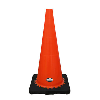 "28"" RK Orange Safety Traffic PVC Cones with Black Base -CONE28-ORBB"