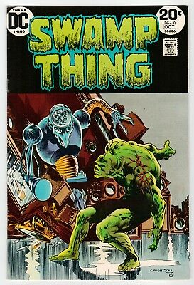 DC - SWAMP THING #6 - Wrightson Art - FN Oct 1973 Vintage Comic