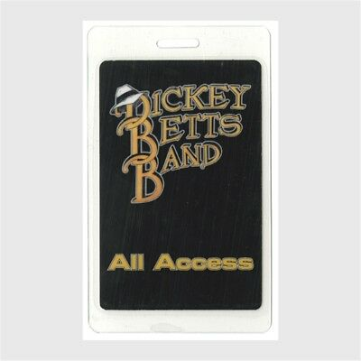 Dickey Betts Band authentic concert tour Laminated Backstage Pass