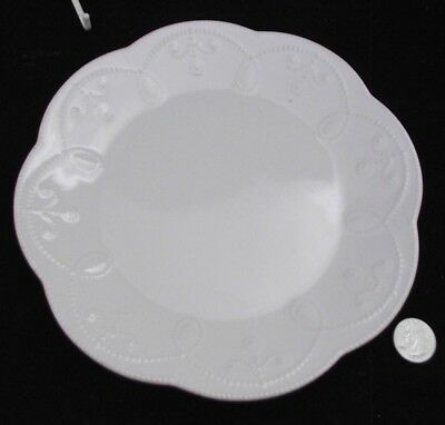 """Lenox French Perle American Design 9"""" White Salad Or Accent  Plate"""