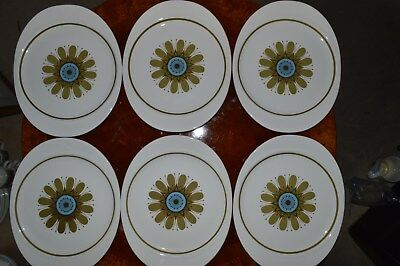 J & G Meakin Galaxy pattern set of six steak plates BRAND NEW