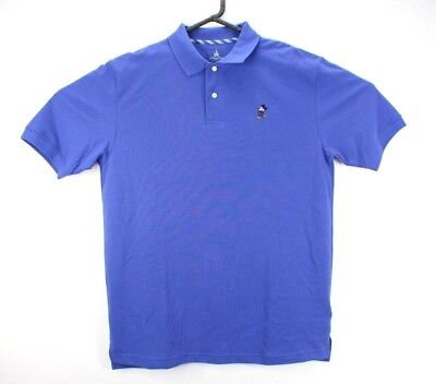 Disney Golf Polo Shirt Mens Mickey Mouse Parks Embroidered Blue Short Sleeve M