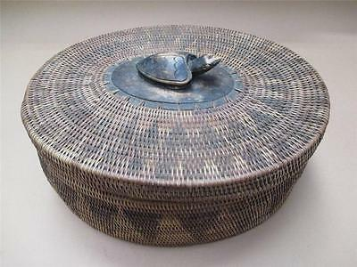 Lidded container, , seagrass,Lombok Indonesia