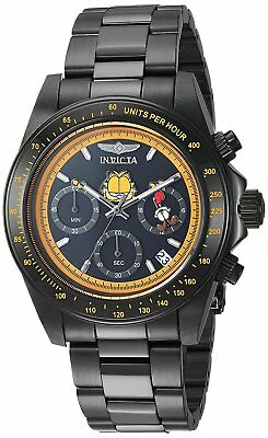 Invicta 24891 Character Collection Men's 39.5mm Black Steel Black Dial Watch