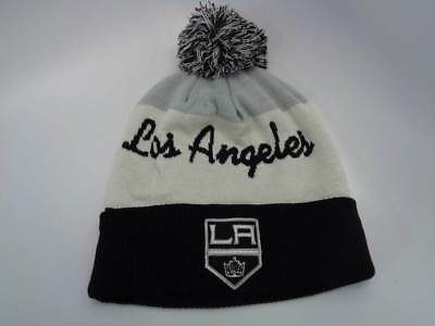 216b7efb7b0 ... sweden los angeles kings nhl reebok grey white black knit hat cap toque  beanie osfa 24dc1