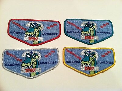 Boy Scout Order Of The Arrow Sanhican Lodge 2 1997 National Jamboree Flap Patch