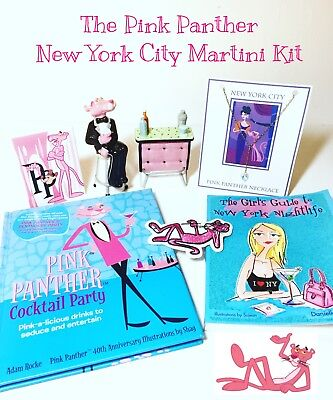 REDUCED!! Collectible: New York City Pink Panther Martini, Salt & Pepper Kit!!