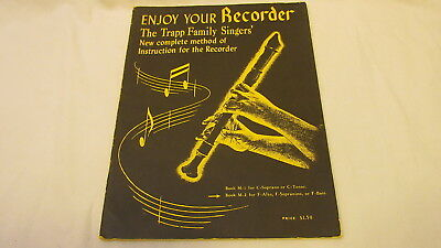 Vintage 1954 Enjoy Your Recorder The Trapp Family Singers