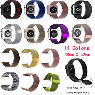 New Fashion Stainless Steel Magnetic Watch Band for Apple Watch iWatch 38/42mm