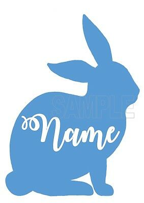 Iron On Transfer / Sticker - Rabbit Bunny Personalised  - Easter T-Shirt