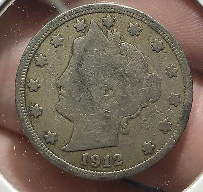 1912 Liberty V Nickel. Nice Collector Coin For Your Collection.6