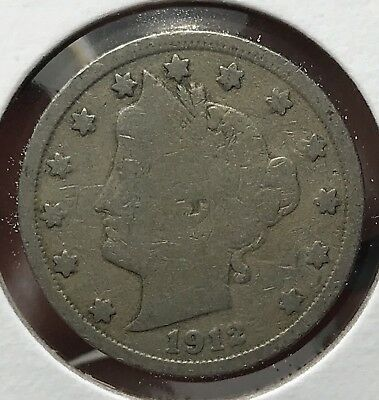 1912 Liberty V Nickel. Nice Collector Coin For Your Collection.5