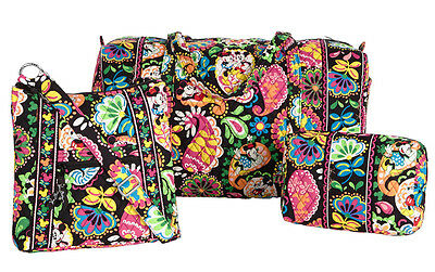NWT Vera Bradley Disney 3 PC SET LARGE DUFFEL Hipster and Midnight With Mickey