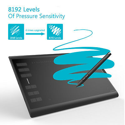 Huion New 1060PLUS 8192 Graphic Drawing Tablet 12 Express Keys 8GB SD Card US