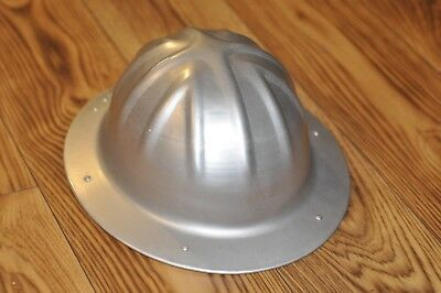 Vintage A+ Condition B.F. McDonald Co Los Angeles Aluminum Full Brim Hard Hat