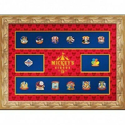 Disney Mickey's Circus Framed Super Pin Set 14 Pins LE 10 SIGNED BY ARTIST