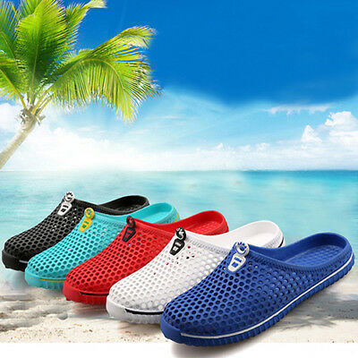 Men Women Breathable Slippers Hollow-Out Beach Sandals Garden Hole Shoes Bling