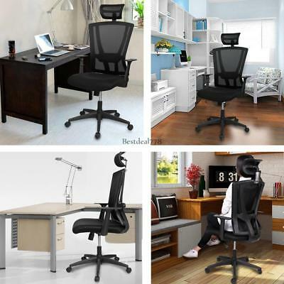 Racing Gaming Bar Chair Computer High Back PU Leather Ergonomic Office Seat