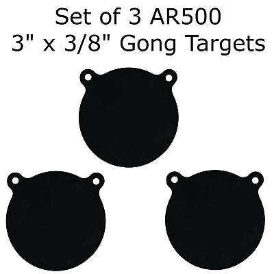 "Two AR500 Steel Square 12/"" x 3//8/"" Thick Target Shooting Practice Painted Black"