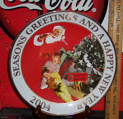 Seasons Greeting & Happy New Year From Coca Cola Puerto Rico Collector's Plate