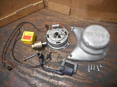 1977 Maico Aw400 Aw 400 Stator Flyweel Cover And Ignition Coil
