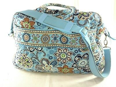 Vera Bradley Weekender Bag in Bali Blue Pattern Travel Carry On