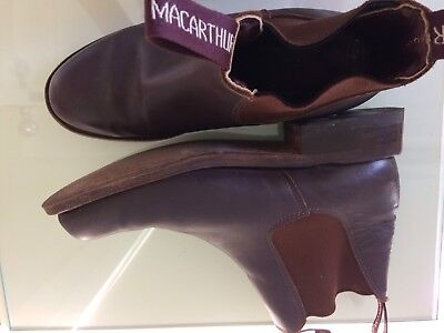 MacArthur Aust Made Brown All Leather Riding Boots Women's / Youths 6.5 RRP $255