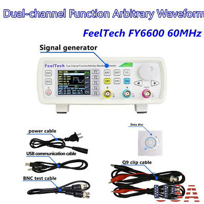 NEW FY6600 60MHz Dual-channel Function Arbitrary Waveform DDS Signal Generator