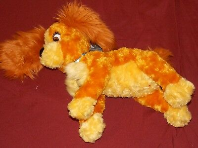 "Disney Parks Lady and the Tramp Plush Lady Girl Dog 10"" Stuffed Animal New"