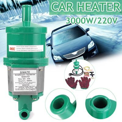 Car Engine Heater Parking Coolant Preheater 220V 3Kw 3000W 65°C Fits All Cars