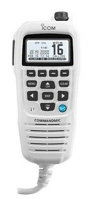 Icom HM195GB COMMANDMIC IV with Backlight White Case for M424G IC-HM195GW