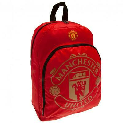 Official Manchester United School Backpack Bag Rucksack Man Utd Football Gift