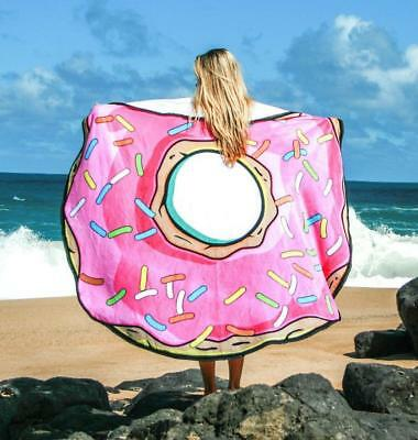 150cm Round Donut Large Microfibre Beach Holiday Bath Lightweight Towel Camping