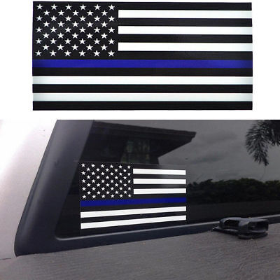 US Police Officer American Flag Thin Blue Line decal sticker Blue Lives Matter