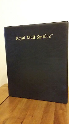 Royal Mail Black Smilers Album Matching Slip Case + 10 pages Good Condition