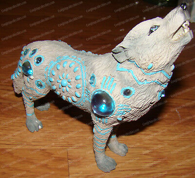 Indian Turquoise Wolf (Wolf Spirit Collection, 12115) Mysticism, Earthiness