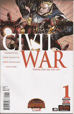 Civil War #1 Marvel Secret Wars Battleworld Captain America Iron Man Avengers VF