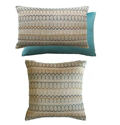 "Luxury Carnival Teal Filled Cushions,2 Sizes 17""x 17"" / 16"" x 23"" Cushions"