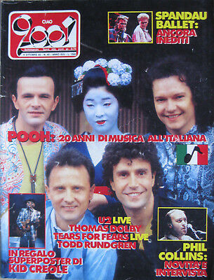 CIAO 2001 40 1985 Pooh Kid Creole Tears For Fears Spandau Ballet Phil Collins