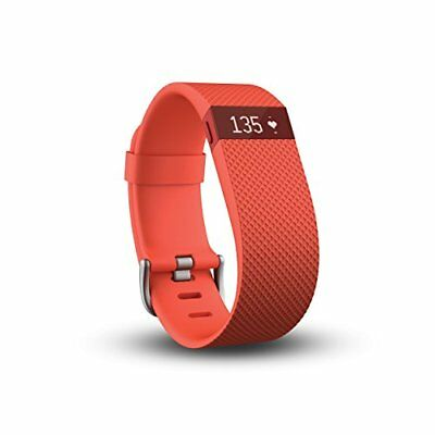 Fitbit Charge HR Wireless + Activity Tracker - Tangerine - LARGE - NEW