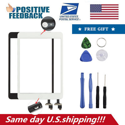 Glass Touch Screen Digitizer + Home Replacement for iPad 4 4th A1460 A1459 A1458