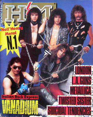 HM 30 1987 Vanadium Twisted Sister LA Guns London Metallica Suicidal Tendencies