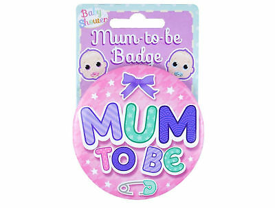 Pink Girl Baby Shower Game Party Mum To Be Badge Metal Lapel Pin Pregnancy Gift