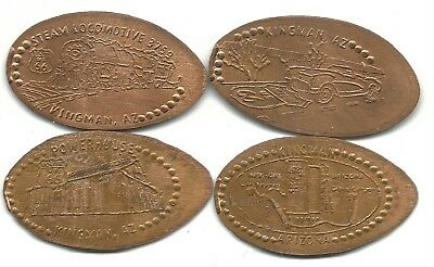 Elongated Penny Kingman Visitor/rt. 66 Museum Set-Coppers