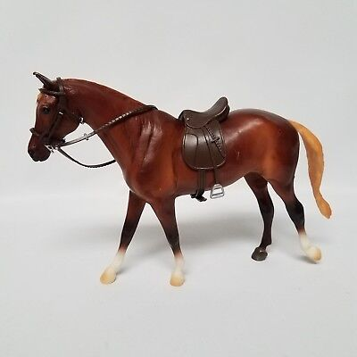 Breyer Molding Co Horse Brown White With Saddle and Reins