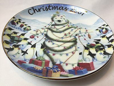 """Avon Sharing The Holiday With Friends Collectible Plate Polar Bear 2007 8"""""""